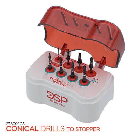 <p><b>Conical </b>Drills to Stopper</p>